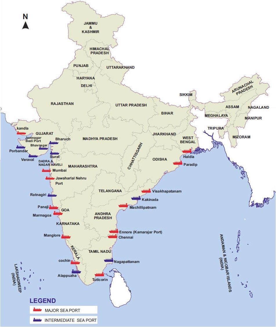 sea port in india Ports in india jump to  (fdi) of up to 100 per cent under the automatic route for port and harbour construction and maintenance projects.